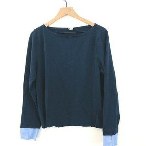 J.Crew Boat Neck Cuffed Long Sleeve Top Large
